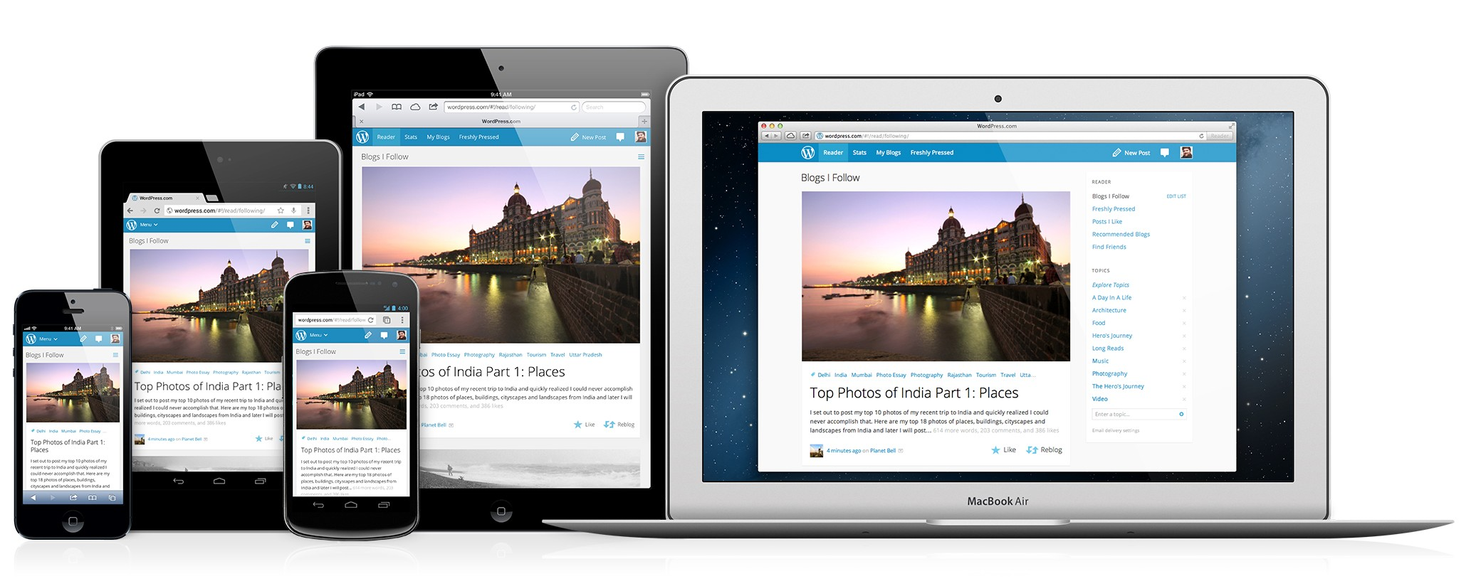 Use of responsive web design in multiple screens