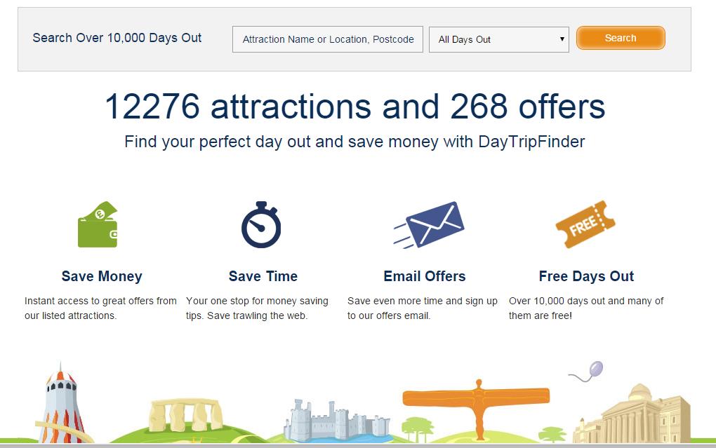Daytripfinder Homepage