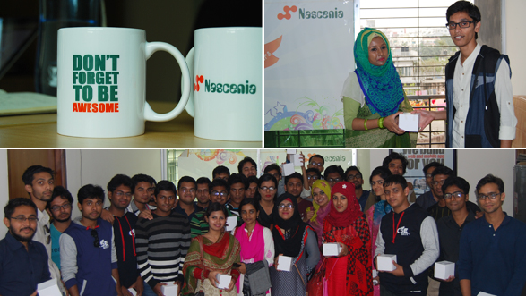 KUET's students visit Nascenia for their study tour