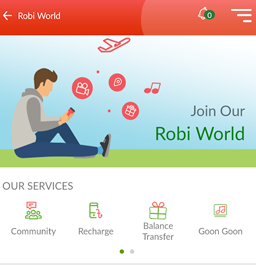 Digitization of Robi app