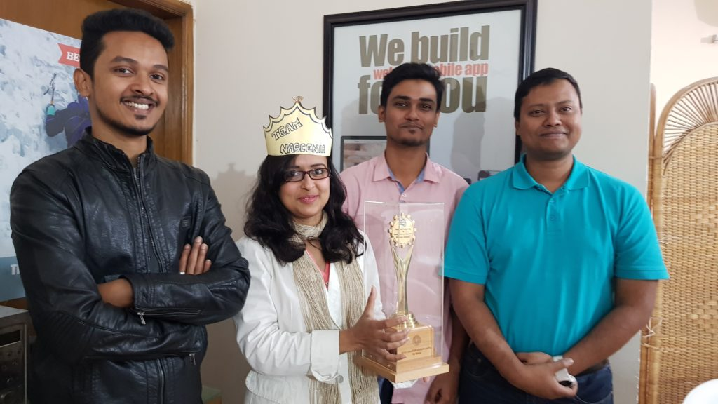 QA Team with NPQE Award