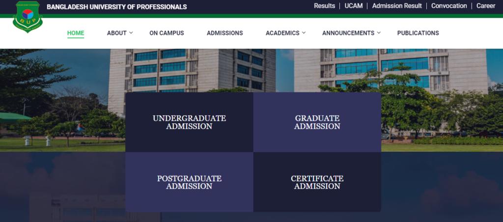 Bangladesh University of Professionals BUP | Nascenia